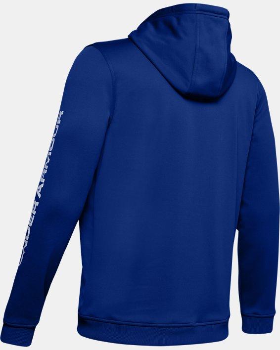 Men's Armour Fleece® Bar Logo Graphic Hoodie, Blue, pdpMainDesktop image number 5