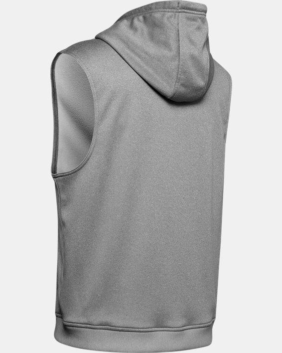 Men's Armour Fleece® Graphic Sleeveless Hoodie, Gray, pdpMainDesktop image number 5