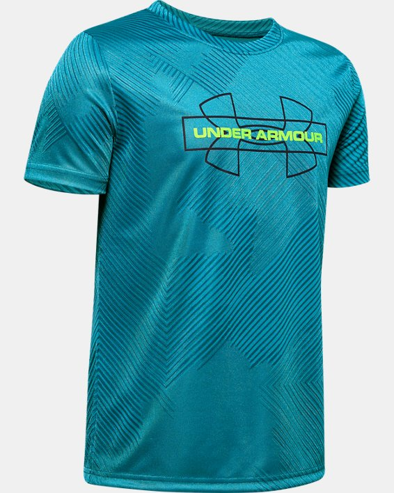 Boys' UA Jacquard Novelty T-Shirt, Green, pdpMainDesktop image number 0