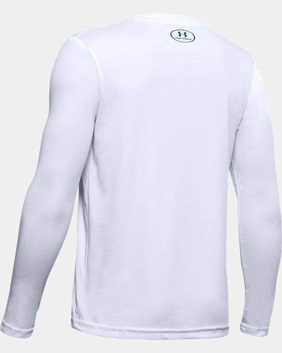 Boys' UA Velocity Graphic Long Sleeve, White, pdpMainDesktop image number 1