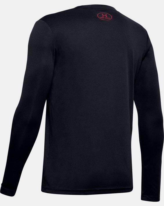 Boys' UA Velocity Football Long Sleeve, Black, pdpMainDesktop image number 1