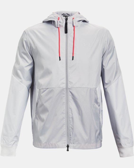 Men's UA Legacy Windbreaker Jacket, Gray, pdpMainDesktop image number 4