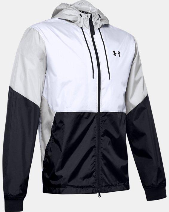 Men's UA Legacy Windbreaker Jacket, White, pdpMainDesktop image number 3