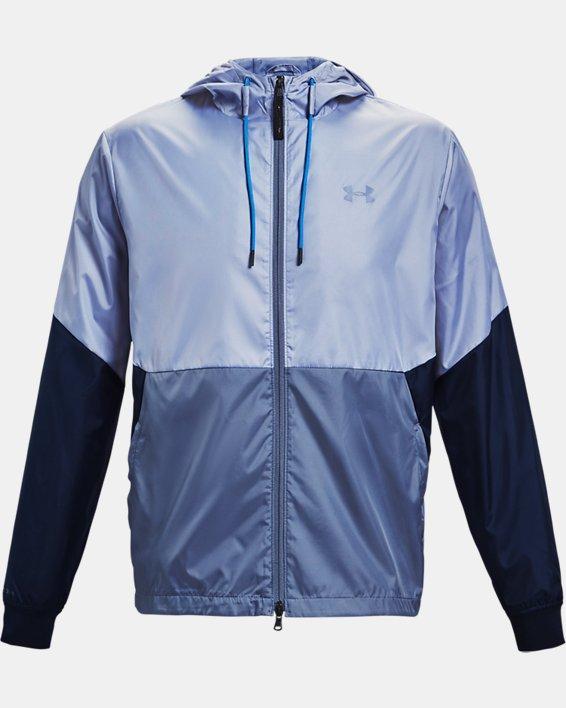 Men's UA Legacy Windbreaker Jacket, Blue, pdpMainDesktop image number 4