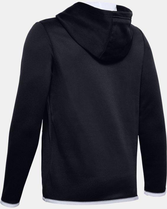 Boys' UA Chest Graphic Hoodie, Black, pdpMainDesktop image number 1