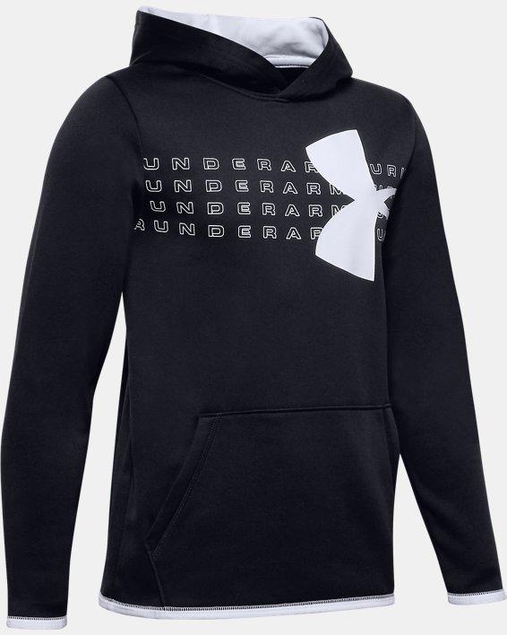 Boys' UA Chest Graphic Hoodie, Black, pdpMainDesktop image number 0