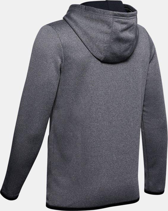 Boys' Armour Fleece® Big Logo Hoodie, Black, pdpMainDesktop image number 1