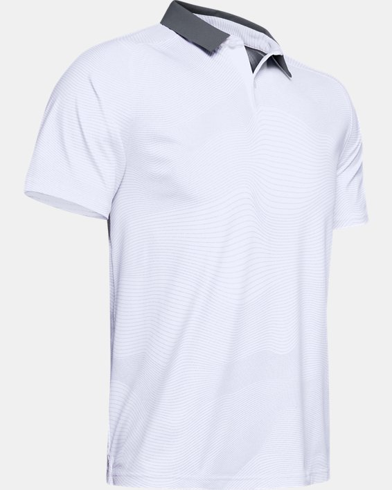 Men's UA Iso-Chill Polo, White, pdpMainDesktop image number 3