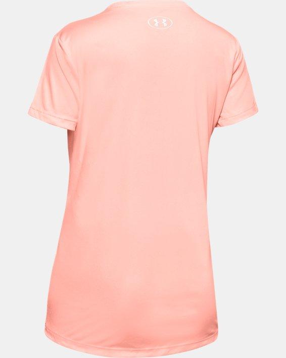 Girls' UA Softball Logo Short Sleeve, Orange, pdpMainDesktop image number 1