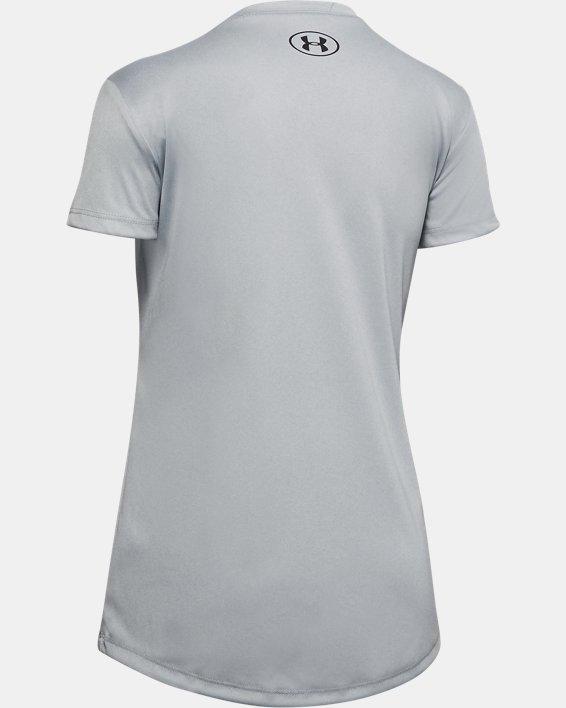 Girls' UA Volleyball Short Sleeve, Gray, pdpMainDesktop image number 1