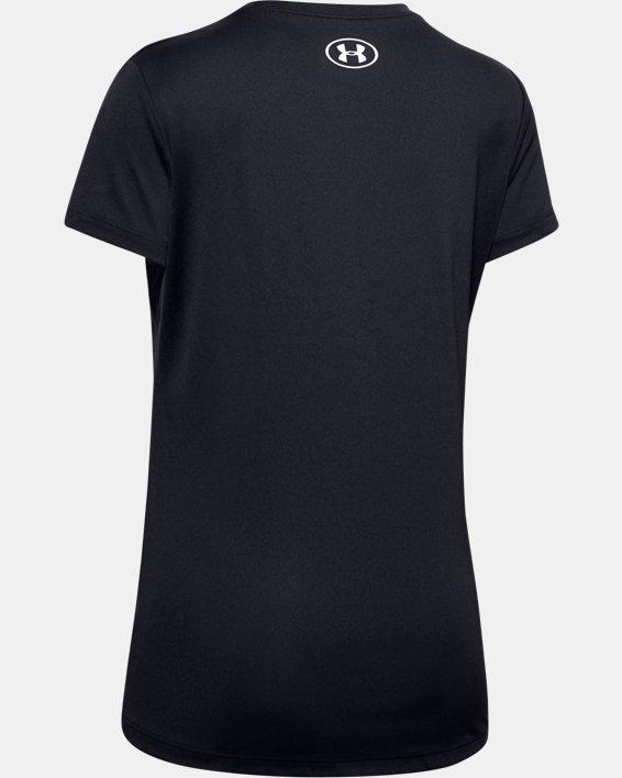 Girls' UA Iceskating Short Sleeve, Black, pdpMainDesktop image number 1