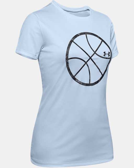 Girls' UA Basketball Logo Short Sleeve