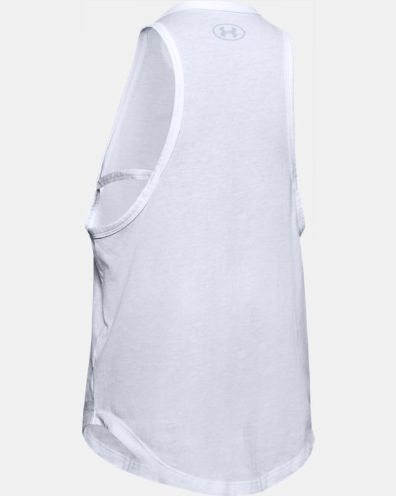 Girls' UA Branded Tank, White, pdpMainDesktop image number 1