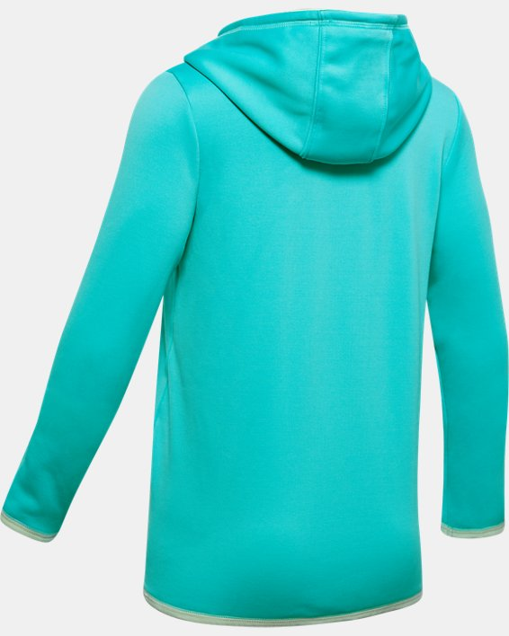 Girls' Armour Fleece® Strong Hoodie, Blue, pdpMainDesktop image number 1