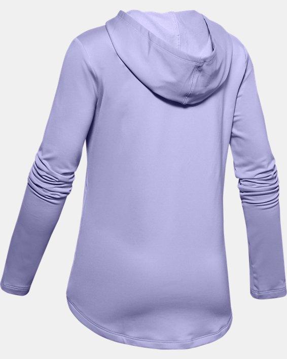 Girls' ColdGear® Hoodie, Purple, pdpMainDesktop image number 1