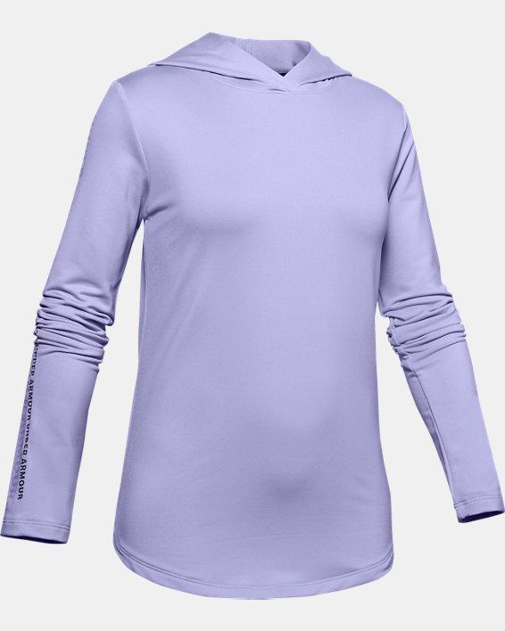 Girls' ColdGear® Hoodie, Purple, pdpMainDesktop image number 0