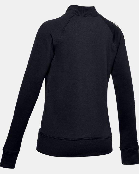 Girls' ColdGear® Mock Long Sleeve, Black, pdpMainDesktop image number 1
