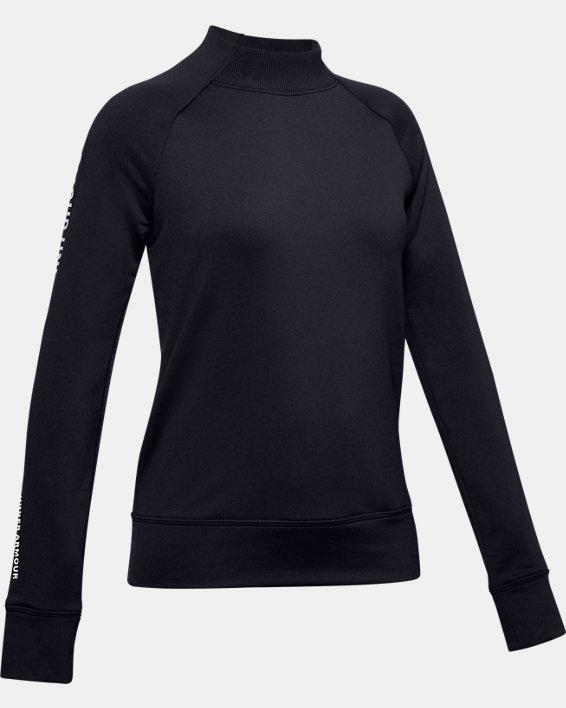 Girls' ColdGear® Mock Long Sleeve, Black, pdpMainDesktop image number 0