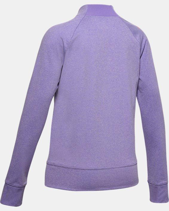 Girls' ColdGear® Mock Long Sleeve, Purple, pdpMainDesktop image number 1