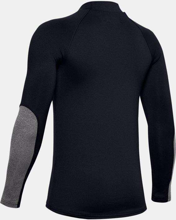 Boys' ColdGear® Mock Long Sleeve, Black, pdpMainDesktop image number 1