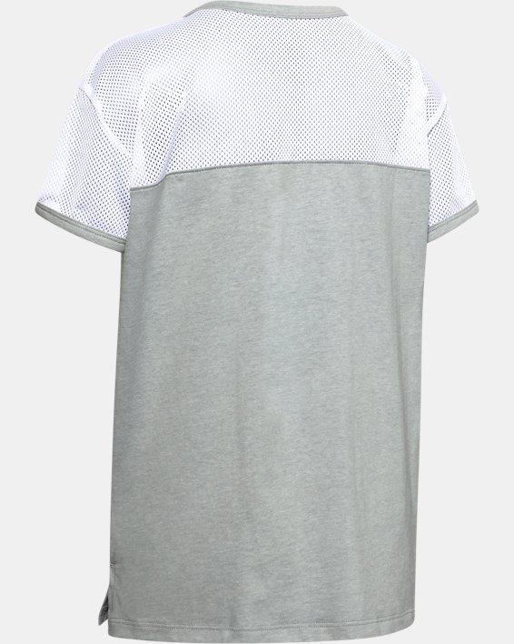 Girls' UA Sportstyle Short Sleeve, Gray, pdpMainDesktop image number 1