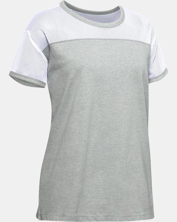 Girls' UA Sportstyle Short Sleeve, Gray, pdpMainDesktop image number 0