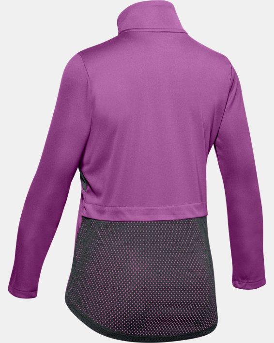 Girls' UA Velocity ½ Zip, Purple, pdpMainDesktop image number 1