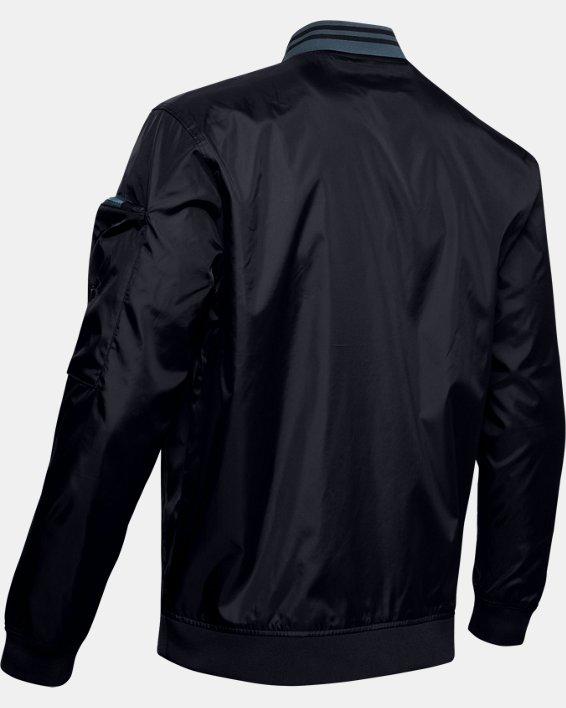 Men's UA Unstoppable Woven Bomber Jacket, Black, pdpMainDesktop image number 4