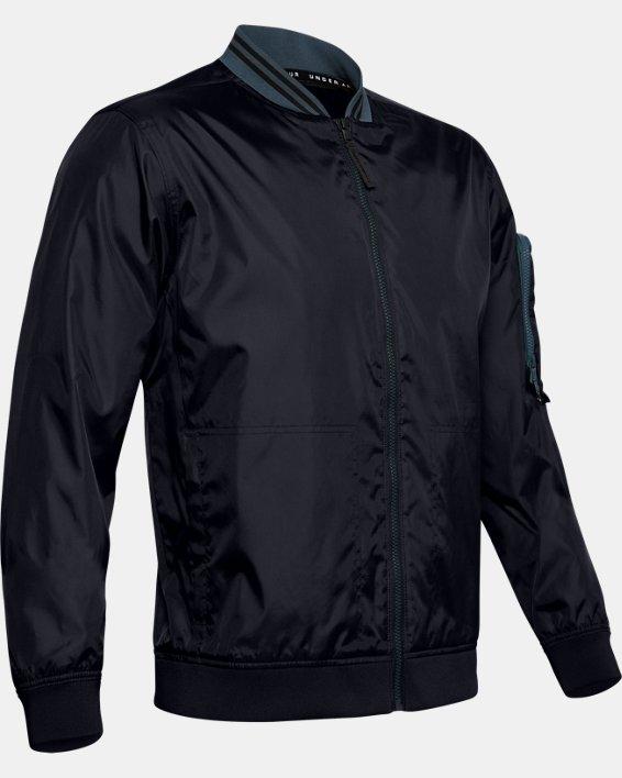 Men's UA Unstoppable Woven Bomber Jacket, Black, pdpMainDesktop image number 3