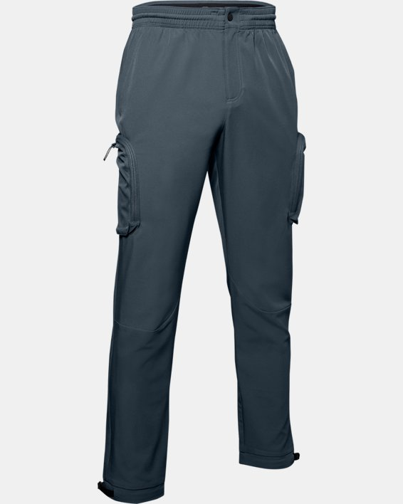 Men's UA Unstoppable Woven Cargo Pants, Gray, pdpMainDesktop image number 4