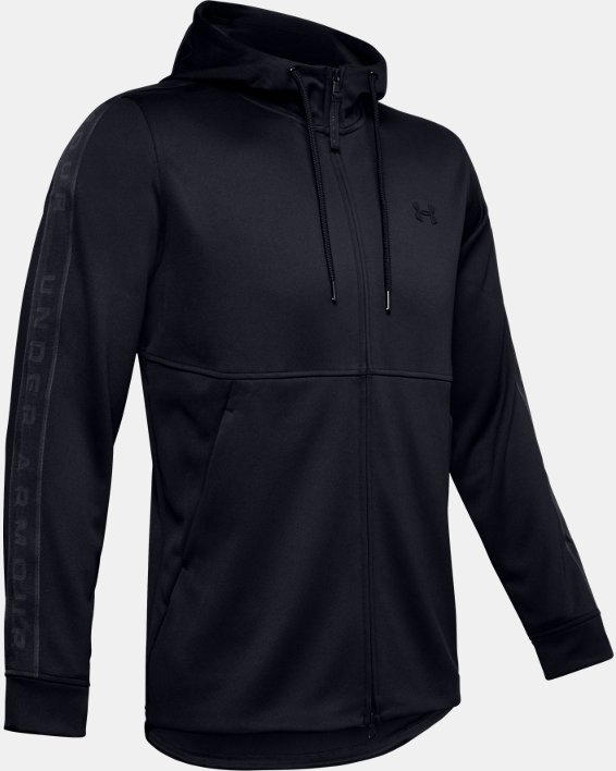 Men's UA Unstoppable Track Jacket, Black, pdpMainDesktop image number 4