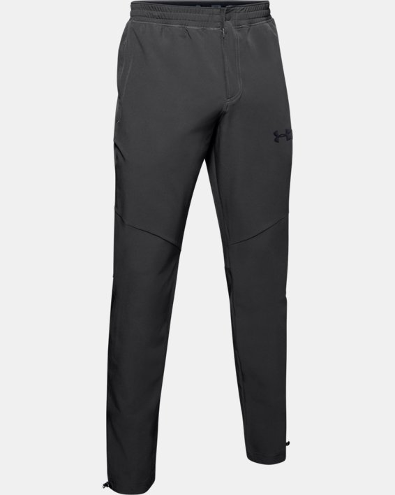 Men's UA Unstoppable Woven Pants, Gray, pdpMainDesktop image number 4