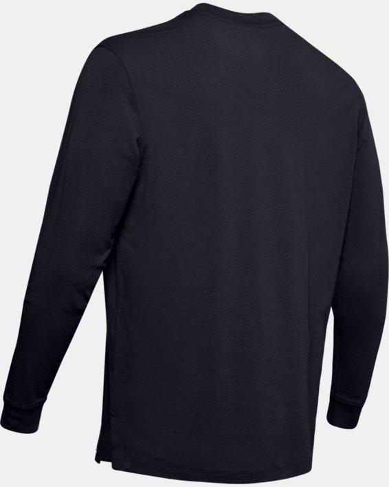 Men's UA Unstoppable Wordmark Long Sleeve, Black, pdpMainDesktop image number 5