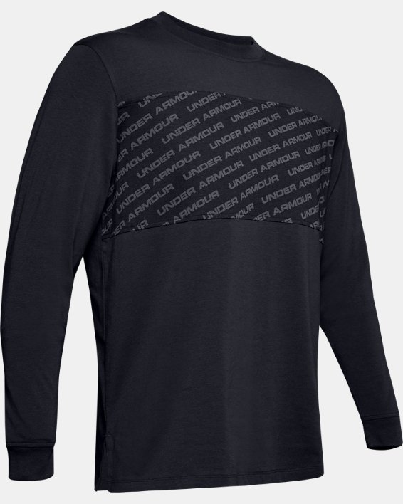 Men's UA Unstoppable Wordmark Long Sleeve, Black, pdpMainDesktop image number 4
