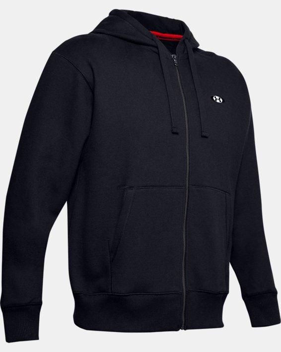 Haut UA Performance Originators Fleece Full Zip pour homme, Black, pdpMainDesktop image number 3