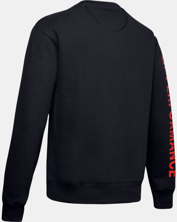 Men's UA Originators Fleece Crew, Black, pdpMainDesktop image number 5
