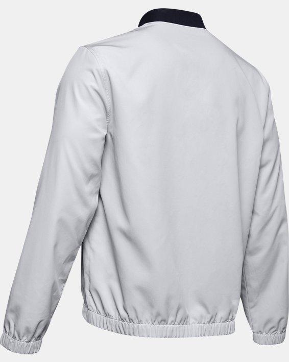 Men's UA Unstoppable Essential Bomber Jacket, Gray, pdpMainDesktop image number 5