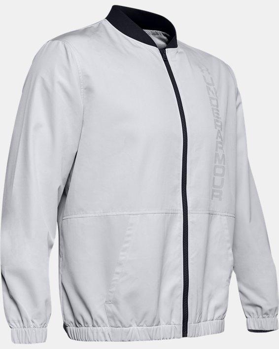Men's UA Unstoppable Essential Bomber Jacket, Gray, pdpMainDesktop image number 4