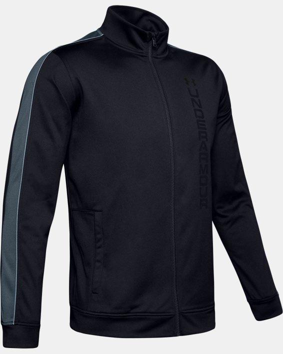 Men's UA Unstoppable Essential Track Jacket, Black, pdpMainDesktop image number 3