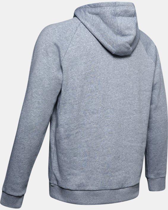 Men's UA Rival Fleece Logo Hoodie, Gray, pdpMainDesktop image number 5