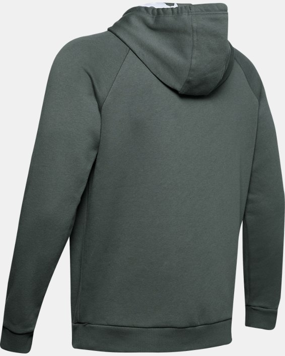 Men's UA Rival Fleece Printed Hoodie, Gray, pdpMainDesktop image number 4