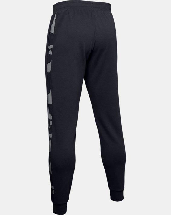 Men's UA Rival Fleece Printed Joggers, Black, pdpMainDesktop image number 5