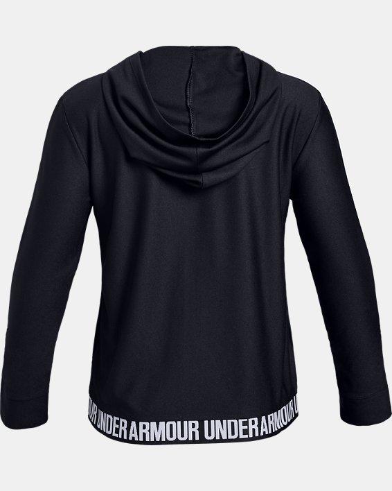 Girls' UA Play Up Full Zip Jacket, Black, pdpMainDesktop image number 5
