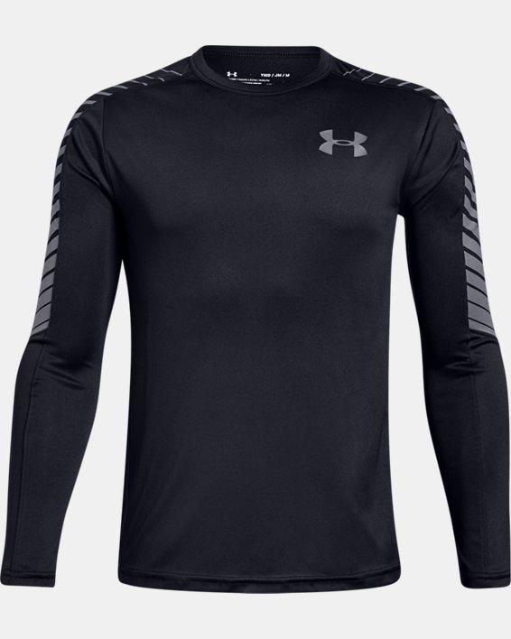 Boys' UA MK-1 Long Sleeve Shirt, Black, pdpMainDesktop image number 0