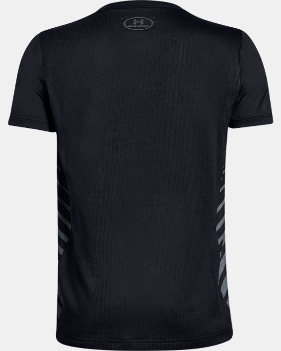 Boys' UA MK-1 Short Sleeve Shirt, Black, pdpMainDesktop image number 1