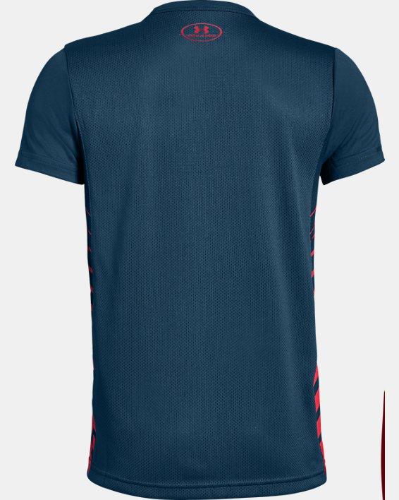 Boys' UA MK-1 Short Sleeve Shirt, Blue, pdpMainDesktop image number 1