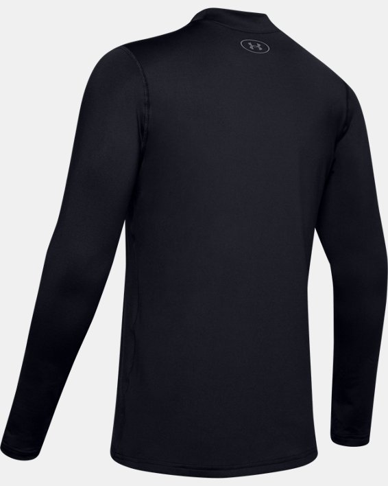 Men's ColdGear® Armour Fitted Mock Long Sleeve, Black, pdpMainDesktop image number 5