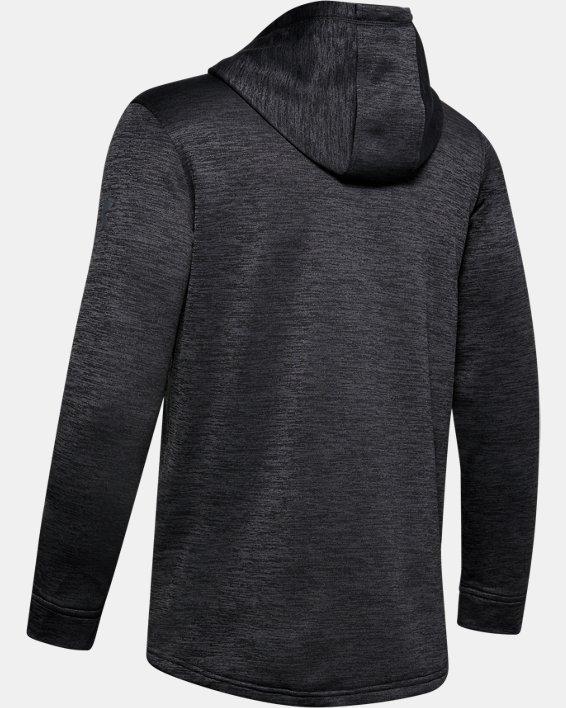Men's Armour Fleece® ½ Zip Hoodie, Black, pdpMainDesktop image number 5