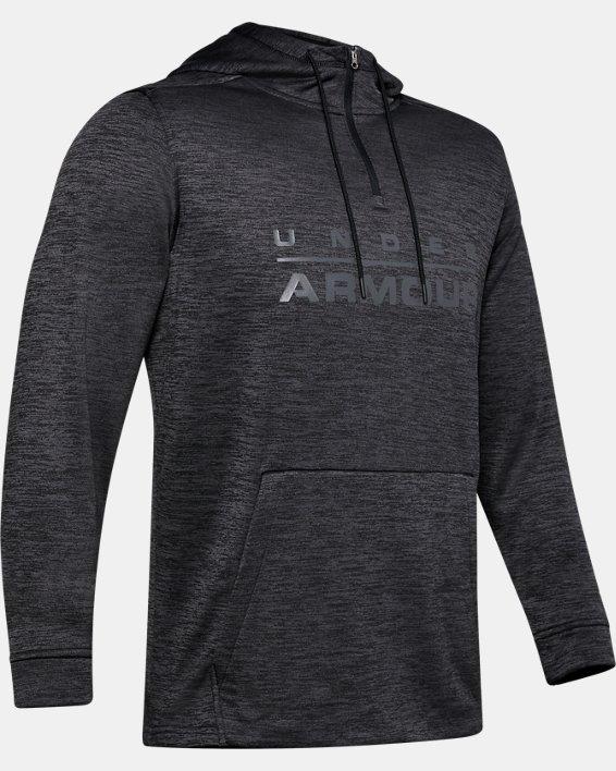 Men's Armour Fleece® ½ Zip Hoodie, Black, pdpMainDesktop image number 4