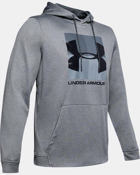 Men's Armour Fleece® Graphic Hoodie, Gray, pdpMainDesktop image number 4